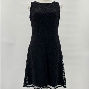 Lauren Sleeveless Black Lace Dress - Sz 8